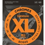 D'Addario Flat Wound Chrome Electric Guitar Strings Extra Light