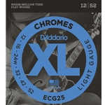 D'Addario Flat Wound Chrome Electric Guitar Strings Light