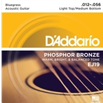 D'Addario Phosphor Bronze Acoustic Guitar Strings Light Top/Medium Bottom