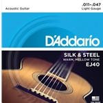 D'Addario Silk and Steel Folk Acoustic Guitar Strings