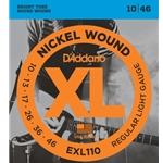 D'Addario Nickel Wound Electric Guitar Strings Regular Light