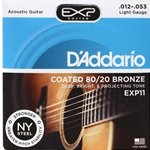 D'Addario Coated 80/20 Bronze Acoustic Guitar Strings Light