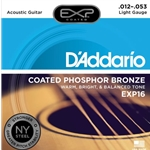 D'Addario EXP Coated Phosphor Bronze Acoustic Guitar Strings Light