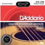 D'Addario EXP Coated Phosphor Bronze Acoustic Guitar Strings Medium