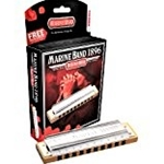 Hohner Marine Band Diatonic Harmonica Key of A