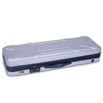 Crossrock 4/4 Violin Silver Hard Case