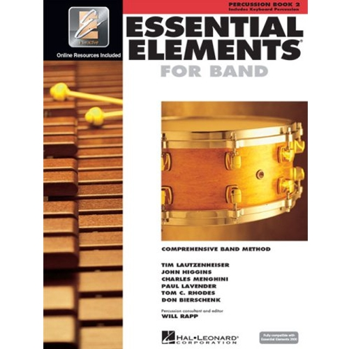 Essential Elements 2000 Percussion Book 2 w/CD