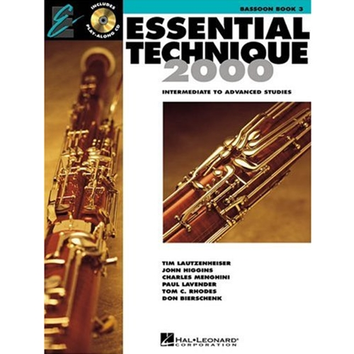 Essential Technique 2000 Basson Book 3 w/CD