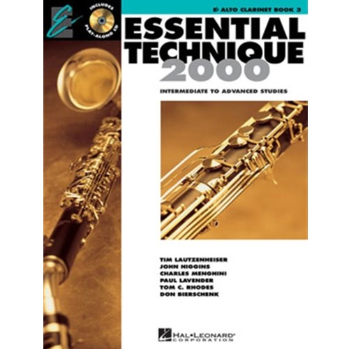 Essential Technique 2000 Alto Clarinet Book 3 w/CD