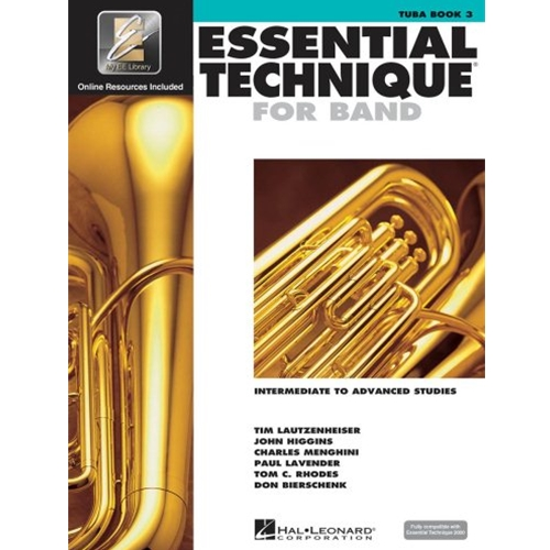 Essential Technique 2000 Tuba Book 3 w/CD