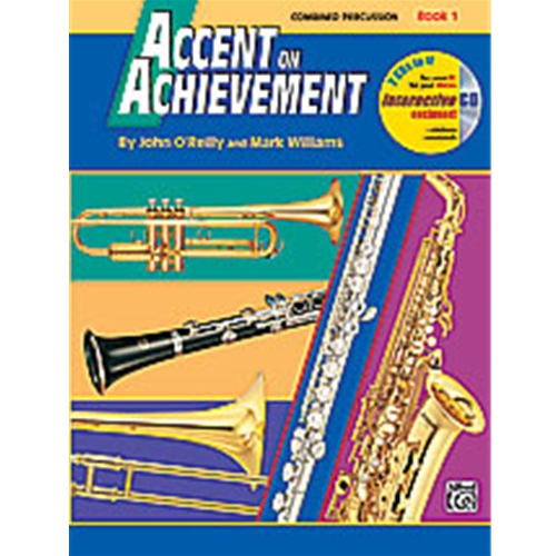Accent on Achievement Book 1 Combined Percussion S.D., B.D., Access. & Mallet Percussion