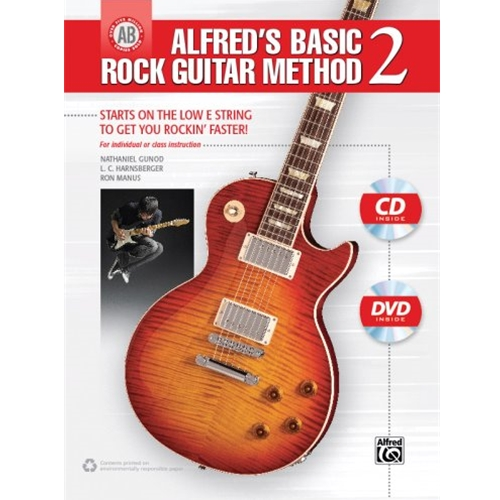 Alfred's Basic Rock Guitar Method 2 with CD & DVD