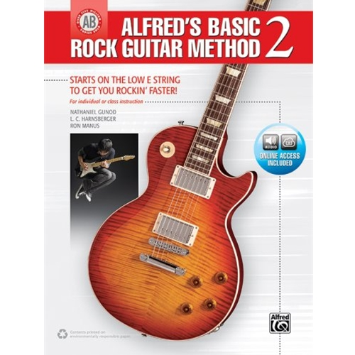 Alfred's Basic Rock Guitar Method 2 with Online Audio