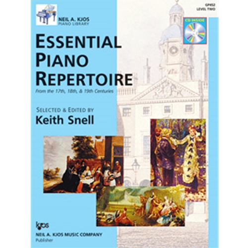 ESSENTIAL PIANO REPERTOIRE-LEVEL 2-BOOK&CD NAK PA LIB