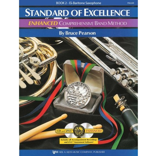 STANDARD OF EXCELLENCE ENHANCED BK 2, BARITONE SAXOPHONE SOE