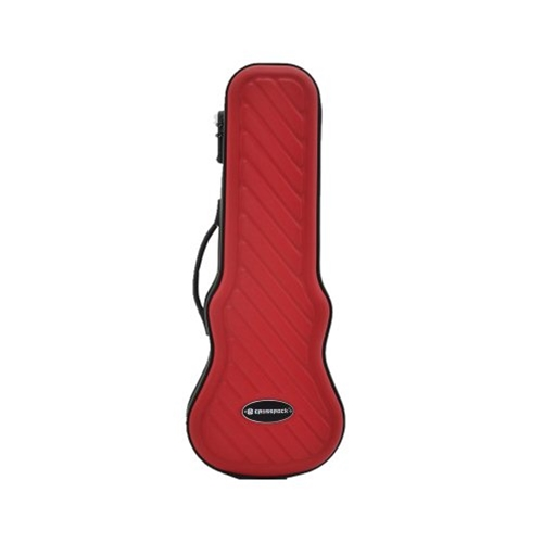 Crossrock Soprano Ukulele Red Hard Case